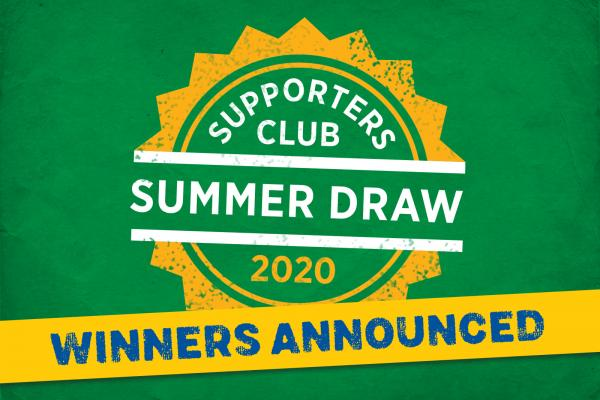 Supporters Club Draw 2020 Winners
