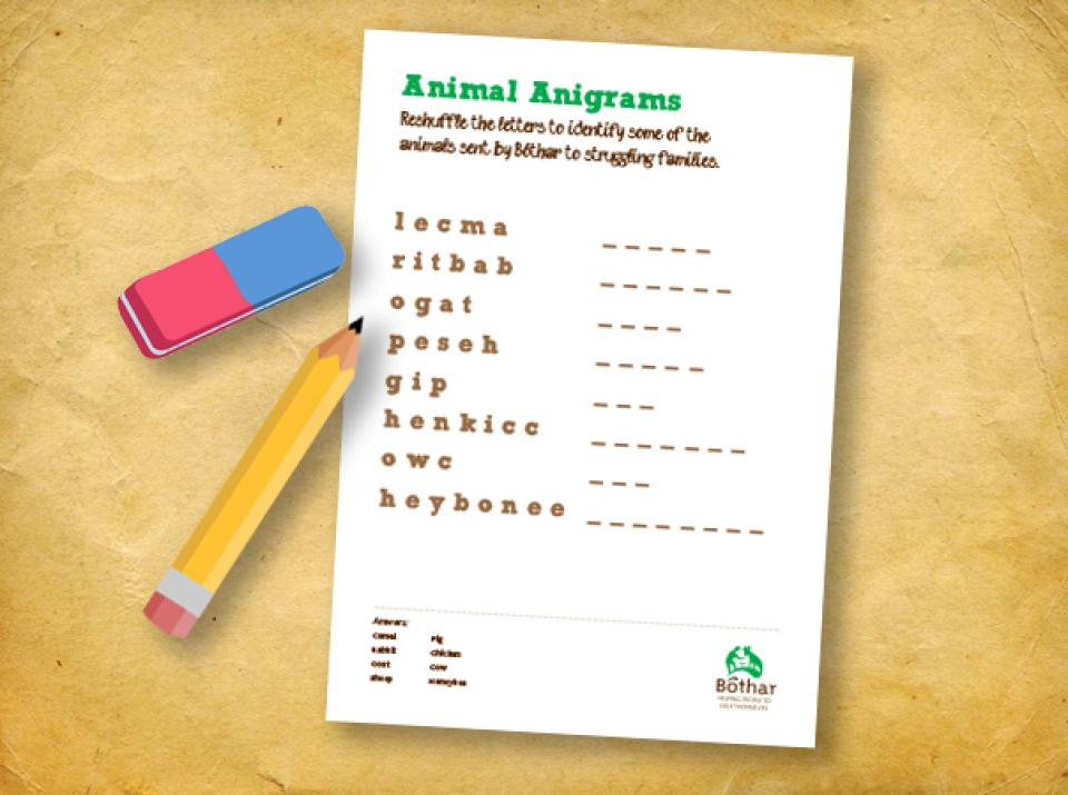 Animal Anagrams